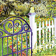 Purple Garden Gate Art Print