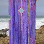 Purple Gateway To The Sea  Art Print