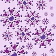 Purple Gems Art Print
