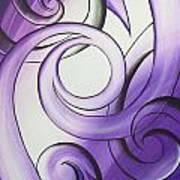 Purple Glass Koru Art Print