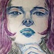 Purple Haze Print by Agata Suchocka-Wachowska
