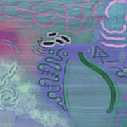 Purple Haze Between The Clouds Art Print by Lazaros