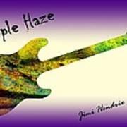 Purple Haze Scuse Me While I Kiss the Sky Hendrix Art Print