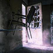 Purple Haze - Strange Scene In An Abandoned Psychiatric Facility Art Print