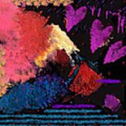 Purple Hearts Art Print