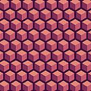 Purple Hexagonal Pattern Art Print