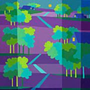 Purple Hill Farms Art Print