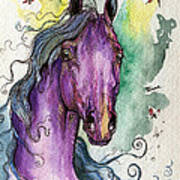 Purple Horse Print by Angel  Tarantella