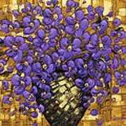 Purple In The Warm Glow Art Print