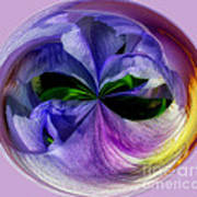 Purple Iris Orb Art Print