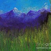 Purple Mountains By Jrr Art Print