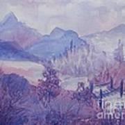 Purple Mountains Fantasy Art Print
