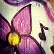 Purple Paint One Art Print