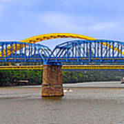 Purple People Bridge And Big Mac Bridge - Ohio River Cincinnati Art Print by Christine Till