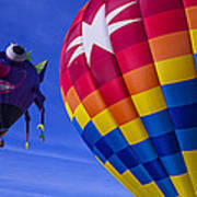 Purple People Eater Rides The Wind Art Print