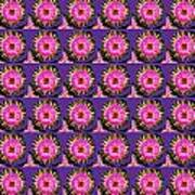 Purple Pink Flower Pattern Decoration Background Designs  And Color Tones N Color Shades Available F Art Print