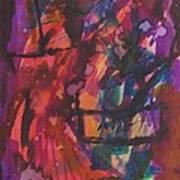 Purple Prayer Art Print by Beena Samuel