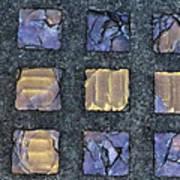 Purple Prism Glass In A Square Art Print