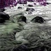 Purple River Art Print