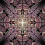 Purple Shield Art Print