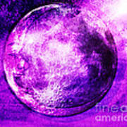 Purple Side Of The Moon Art Print by Mindy Bench