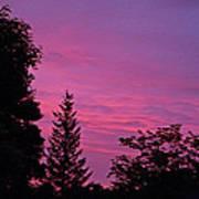 Purple Sky At Night Art Print