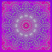 Purple Space Flower Art Print