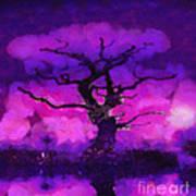 Purple Tree Of Life Art Print