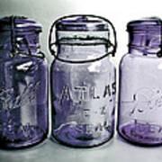 Purple Trio Art Print