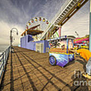 Pushing On The Pier Art Print