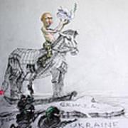 Putin's Surprising Crimea Visit Art Print