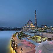Putra Mosque At Blue Hour Art Print