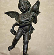 Putto With Dolphin By Verrocchio Art Print by Melany Sarafis