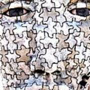 Puzzled Man No2 Art Print