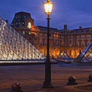 Pyramid At A Museum, Louvre Pyramid Art Print
