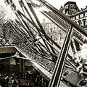 Pyramid. Paris. Art Print