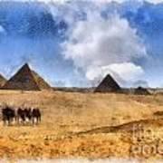 Pyramids Of Giza In Egypt Art Print