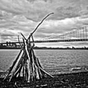 Pyre At The Bridge Art Print