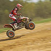 Quad Racer Jumping Art Print