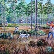 Quail Hunting...a Southern Tradition. Art Print