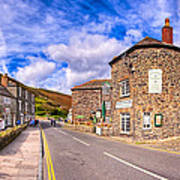 Quaint Cornwall In The Little Village Of Boscastle Art Print by Mark E Tisdale