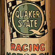 Quaker State Oil Can Art Print