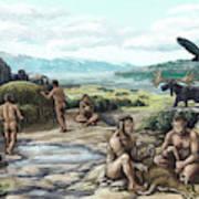 Quaternary Period, Hominid Settlement Art Print