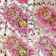 Quatro Floral - 22a Art Print