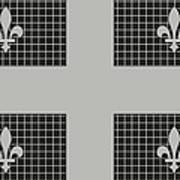 Quebec Metal Mesh Flag Art Print