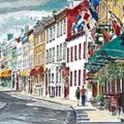Quebec Old City Canada Art Print by Anthony Butera