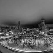 Queen City Winter Wonderland After The Storm Series 0018a Art Print