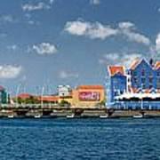 Queen Emma Bridge Open Curacao Art Print