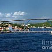 Queen Juliana Bridge  Queen Emma Bridge Curacao Art Print