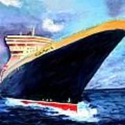 Queen Mary 2 Art Print